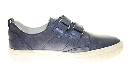Sneakers / Low Top KIDS ECHT LEDER Farbe Dunkelblau mit Klettverschluss