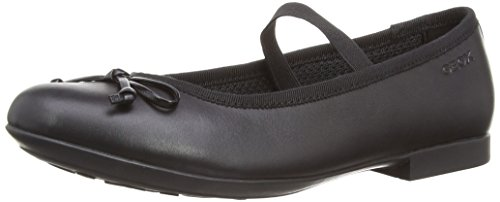 Geox Girls' PLIE 2 Ballet Flat with Velcro Mary Jane Strap, Black, 33 Medium EU Little Kid (2 US) - Geox Leather Mary Janes
