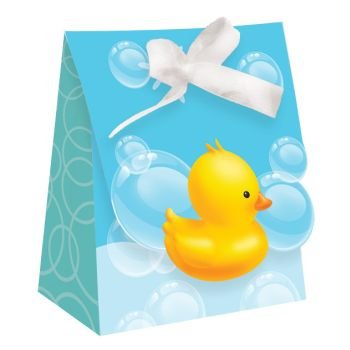 Duck Baby Shower Favors Rubber - Bubble Bath Baby Shower Favor Bags w/Ribbon 12 Per Pack