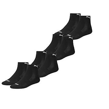Puma - Calcetines deportivos unisex (con suela de tejido de algodón rizo, 4 pares): Amazon.es: Deportes y aire libre