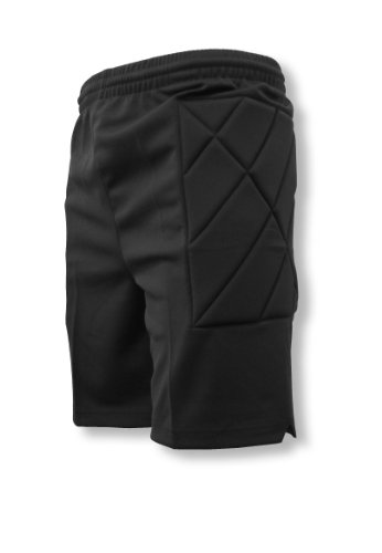 Youth Goalie Skates - Nassau padded soccer goalie shorts - black - size Youth Large