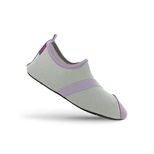 FitKicks Women's Active Footwear, Gray/Lavender, Large / 8.5-9.5 B(M) US