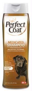 8 In 1 Pet Products Perfect Coat Medicated Shampoo 16oz