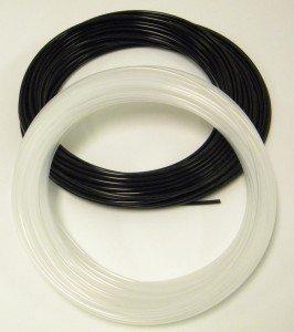 Metric Low Density Polyethylene Tubing - Black / 6 mm ID x 8 mm OD (+/- .102mm) / (50' ()