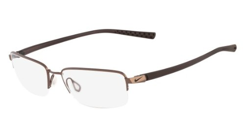 Nike Eyeglasses 4214 242 Wal/Drk Brwn Demo 53 18