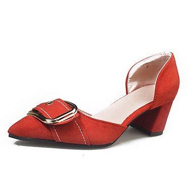 UK4 Pu US6 Cuadra Confort Negro CN36 Sandalias Caminando De Caqui Y Mujeres pwne Verano Las Piscina Rojo EU36 Talón qyzZXw6T