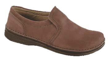 FOOTPRINTS Nashville femmes Chaussures cuir nubuk, marron, Taille 36 avec semelle ètroite