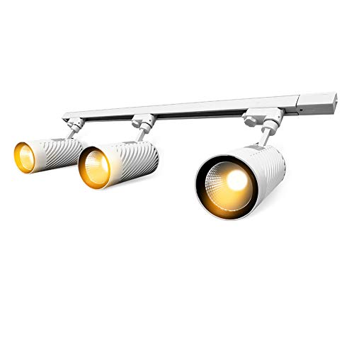 Price comparison product image UPO Track Lighting Kit with 3-LED Light,  Super Bright with 4500 Lumens High-end Commercial Track Lights,  Advanced Material,  Easy to Install,  ETL & CTEL Certification,  White