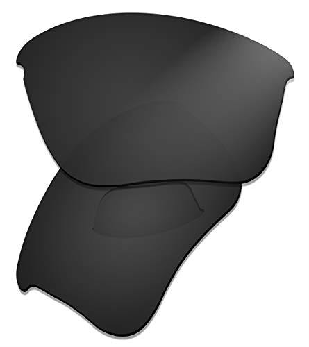 (Prizo Polarized Replacement Lenses for Oakley Flak Jacket XLJ Sunglasses Matte Black)