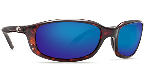 Costa Del Mar Brine C-Mate 2.50 Sunglasses, Tortoise, Blue Mirror 580P - Del Tortoise Costa Brine Mar