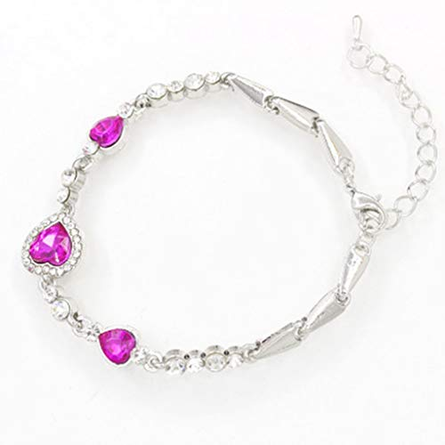 Wrist Decoration Korean Style Marine Heart Crystal Anklet Bracelets Korean Jewelry Accessories Band Men Women Couple Jewellery Party