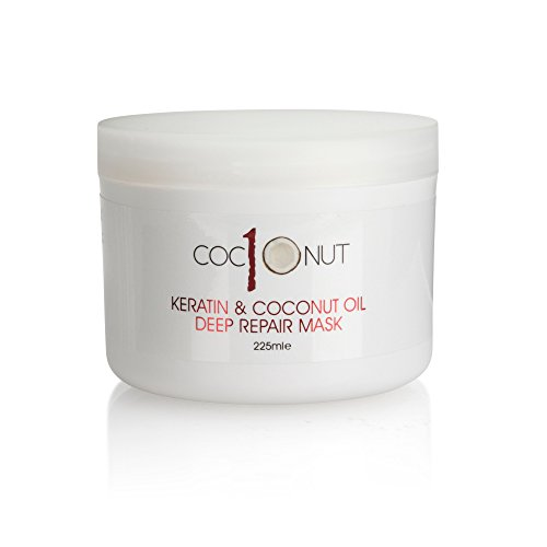 Keratin and Coconut Oil Deep Repair Hair Mask: Intensive Conditioning Treatment for Dry/Damaged Hair - 7.6 fl oz/225 ml