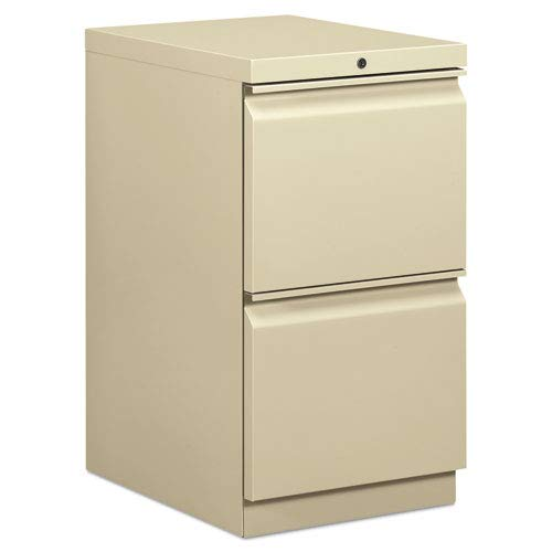 (HON Brigade Standard Height Pedestal - 15quot; x 19.9quot; x 28quot; - 2 x File Drawer(s) - Security Lock - Putty )