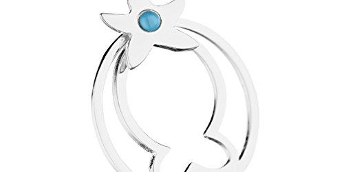 Clio Blue Boucles d'oreilles dormeuses Star Fish en argent 925, 7g