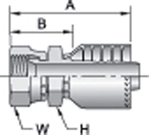 Flare Parker 1FU71-12-12 Adapter Swivel 3//4 BSPP X 3//4 Hose Steel