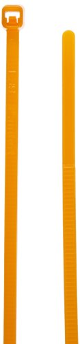 - Panduit PLT1M-L3 Pan-Ty Striped Cable Tie, Nylon 6.6, Miniature Cross Section, Straight Tip, Orange, 18lbs Min Tensile Strength, 0.82