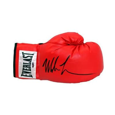9713f1fe394 Mike Tyson Signed Autograph Everlast White Label Red Right Boxing Glove  Heavyweight Champion - Authentic Boxing Collectibles