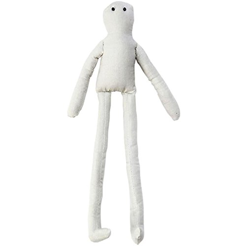 Darice Body, Natural Color, Long Legs, 14 inches Muslin Doll with Wire