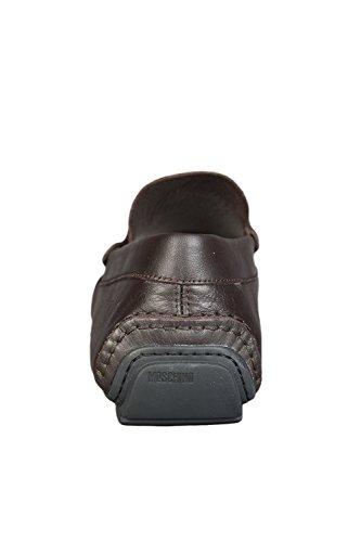 Moschino Large Logo Slip On Herren Schuhe Braun