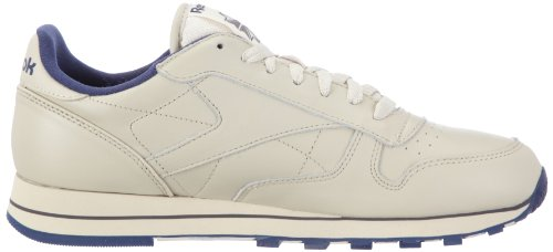 Leather Beige Reebok uomo navy Sneakers ecru Classic da CxwqP5w