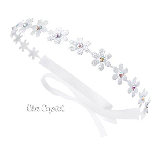 White Flower Swarovski Clear Crystals