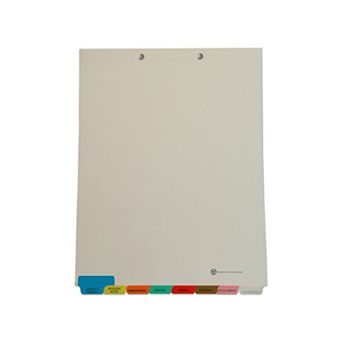 Medical Chart Index Dividers- 8 Tabs, Letter Size, Manila, End Tab (50/Box) - (4 Boxes)