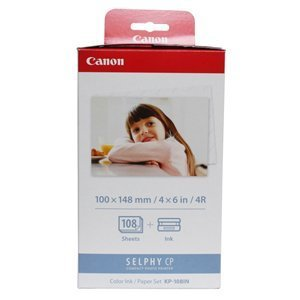 Canon KP-108IN Color Ink Cartridge. KP-108IN 108-SHEET 4X6IN & CLR INK/RIBBON FOR SELPHY CP760 CP770. Inkjet - Color by - Cartridges Ribbon Ink Inkjet