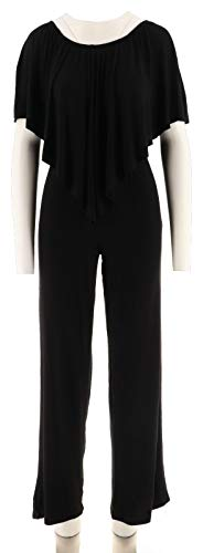 Laurie Felt Knit Jumpsuit Overlay Off The Shoulder Belt Fit Black L New A295837 from Laurie Felt