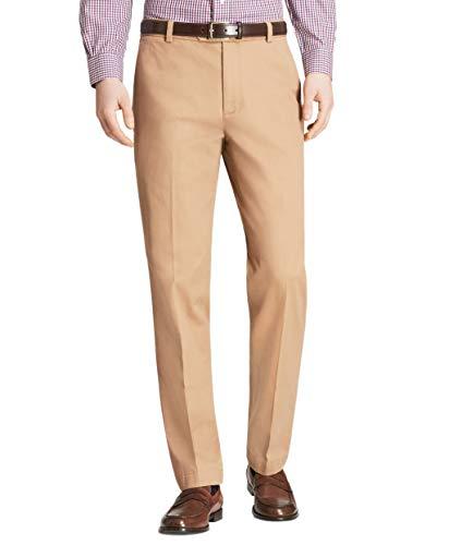 Brooks Brothers Mens Milano Fit Supima Cotton Stretch Chino Pants Tan Beige (38W x 32L)