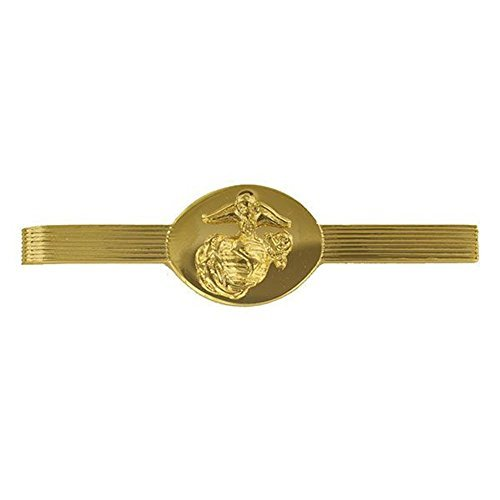 US Marine Corp Tie Bar Clip Anodized Gold Enlisted by Vanguard by Vanguard Military