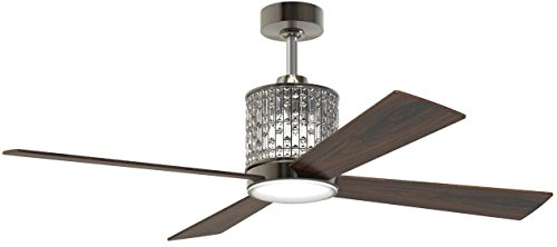 Craftmade MAR52ESP4 Marissa Espresso 52″ Ceiling Fan with Dimmable LED Light and Remote For Sale