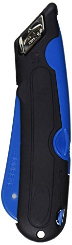 COSCO 091508 Easycut Cutter Knife w/Self-Retracting Safety-Tipped Blade, Black/Blue (Cosco 091508 Easycut Cutter compare prices)