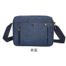 lpkone-Men's cross shoulder bag rucksack business Oxford men's Messenger bag briefcase style bag