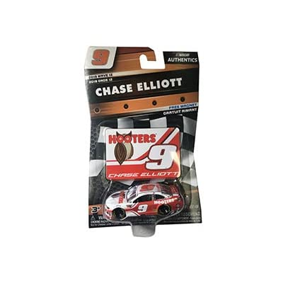 NASCAR Authentics Chase Elliott #9 Diecast Car 1/64 Scale - 2020 Wave 12 - with Die Cut Magnet - Collectible: Toys & Games