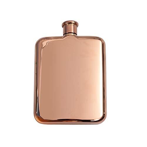sugar home Mirror Polish Flask,Gold,Rose Gold,Silver (Rose Gold)