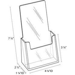 Amazon.com : Clear-Ad - LHF-S100 - Acrylic Trifold Brochure Holder ...