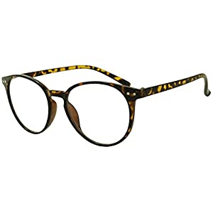 Original Classic Round Vintage Prescription Magnification Reader Eye Glasses Rx Power Strength +150 +175 +200 +2.25 +250 +300 (Havana, +1.75)