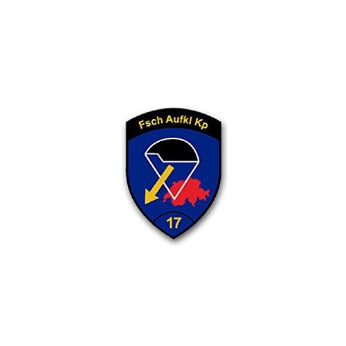 Reconnaissance Units - FschAufKlKp 17 parachutist reconnaissance company KSK command special forces unit Swiss army badge emblem for Audi A3 BMW VW Golf GTI Mercedes (5x7cm) - Sticker Wall Decoration