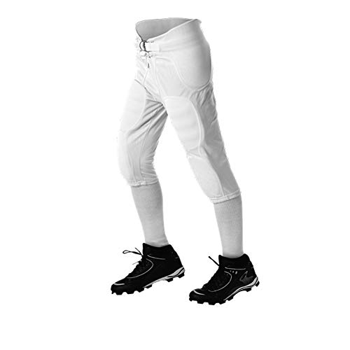 Alleson Athletic Adult Solo Football Pant, White, X-Large