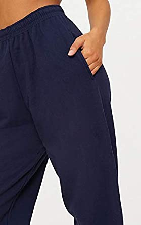 Crazy Girls Womens Fleece Casual Oversized Jogging Joggers Tracksuit Bottoms Ladies Jog Pants Size XS S//M M//L