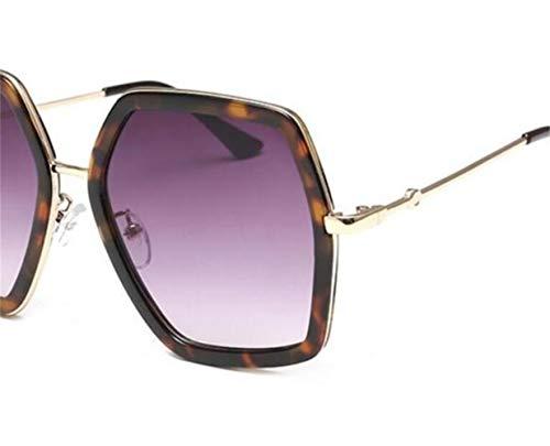 de lunettes léopard soleil de Purple de de cadre Huyizhi Lunettes voyager UV400 conduite la de unisexes protection Cool extérieure grand de soleil 8xEgv