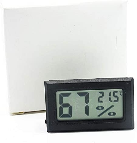 Zhichuang Urijk 1 UDStermómetroデジタルelectrónicoLCDhigrómetroインテリアエクステリアC/FtermómetrohigrómetroDespertador-1-2 (色 : Wire black)