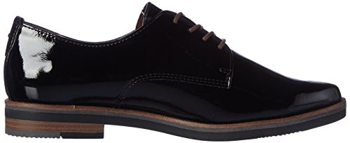 Marco Tozzi 23202, Oxford para Mujer Negro (Black Patent)
