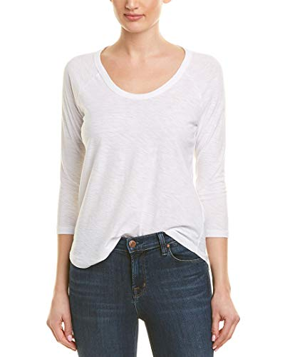 James Perse Womens Raglan Slub Jersey T-Shirt, 2, ()