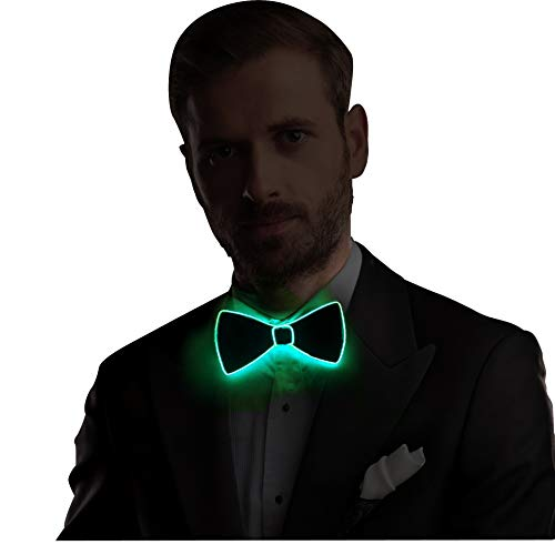 Bow Tie LED El Wire Tie with Switch Controller, Novelty Party Dress Decor