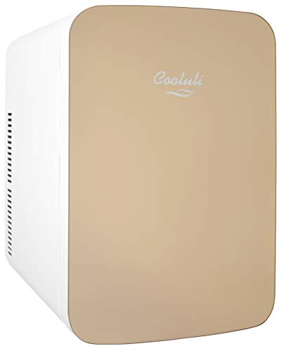 Gold Fridge - Cooluli Infinity 15-liter Mini-Fridge Cooler/Warmer for Cars, Road Trips, Homes, Offices, and Dorms (Gold)