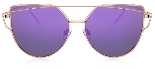 purple JAVIOL Gold Mirrored para Gafas de hombre sol TqwzaAqS