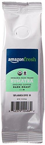 AmazonFresh Fair Trade Organic Sumatra Coffee, Dark Roast, Ground, 1.75 Ounce