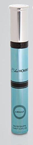 Armaf Blue Homme Eau De Toilette .33 Oz / 10 ml Pen Spray for MenNo Box with Armaf Keychain Free