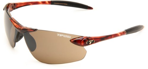 Tifosi Seek FC 0190401071 Wrap Sunglasses,Tortoise Frame/Brown Lens,One Size
